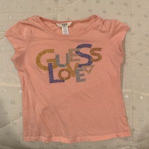Cute pink y2k inspired top by guess